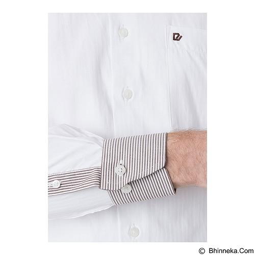 DAMON Kemeja Tangan Panjang Polos Size 17½ [151648] - White Combination (Merchant) - Kemeja Lengan Panjang Pria