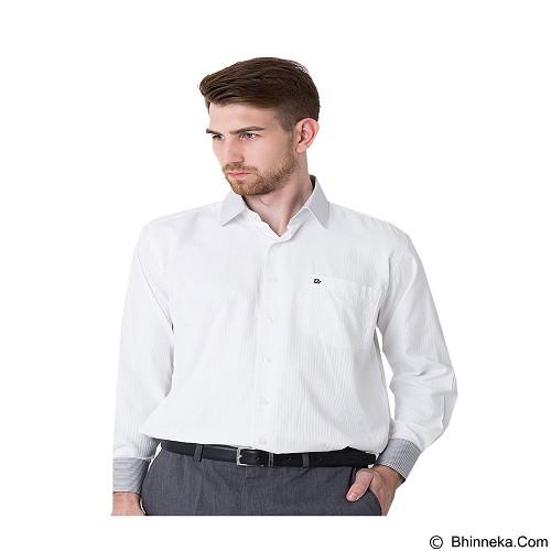 DAMON Kemeja Tangan Panjang Polos Size 17½ [151649] - White Combination (Merchant) - Kemeja Lengan Panjang Pria