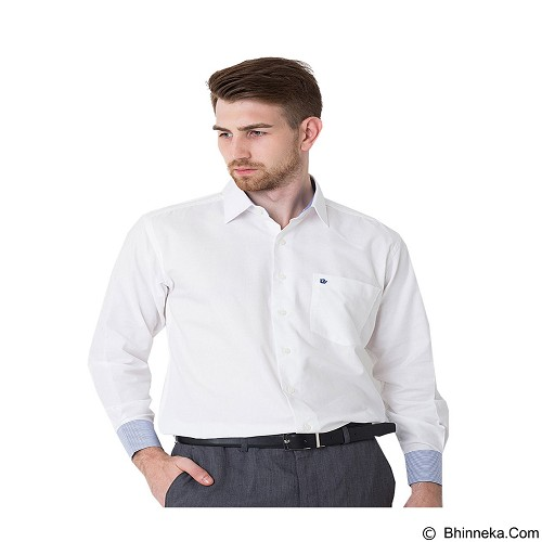 DAMON Kemeja Tangan Panjang Polos Size 17½ [C41653] - White Combination (Merchant) - Kemeja Lengan Panjang Pria