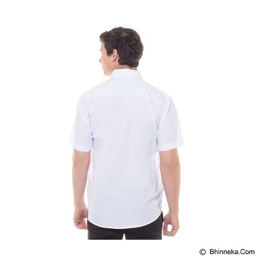 DAMON Kemeja Tangan Pendek Polos Size 17½ [H11753] - White (Merchant) - Kemeja Lengan Pendek Pria