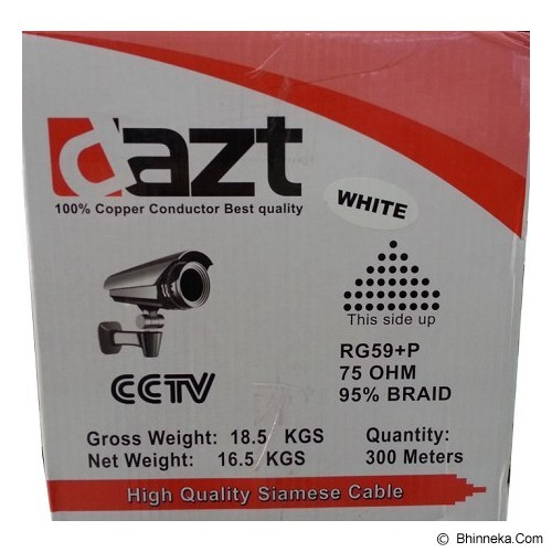 DAZT Kabel CCTV [RG59+Power] - White - CCTV Accessory