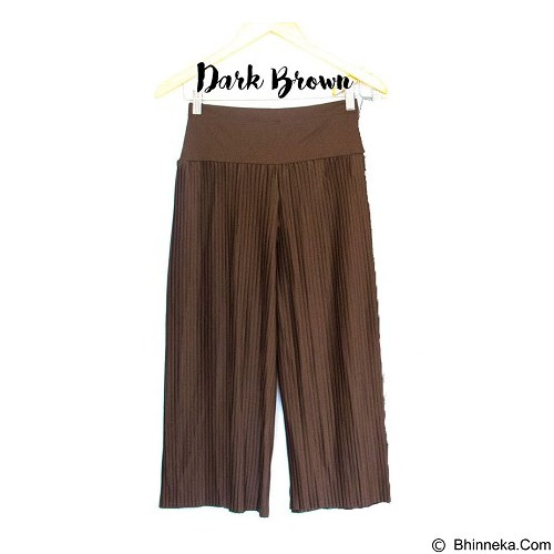 DE'LINKS Plisket Cullot Pants [BCPD18103] - Dark Brown (Merchant) - Celana Panjang Wanita