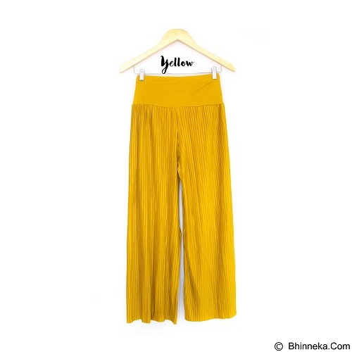 DE'LINKS Plisket Cullot Pants [BCPJ18102] - Yellow (Merchant) - Celana Panjang Wanita