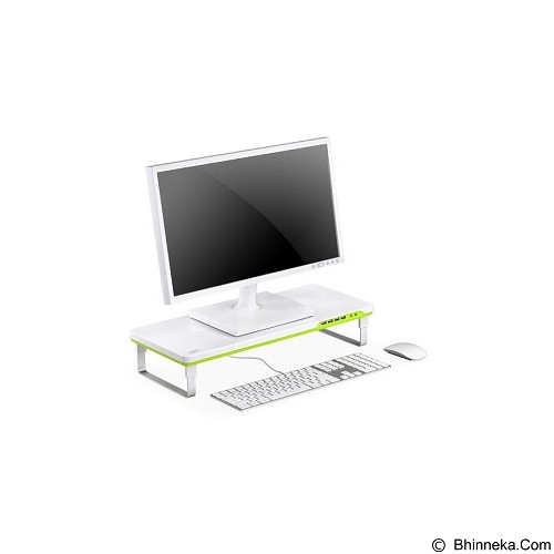 DEEPCOOL M-Desk Monitor Stand [F1] - White Green (Merchant) - Meja Komputer
