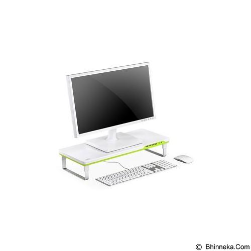 DEEPCOOL M-Desk Monitor Stand [F1] - White Green (Merchant) - Meja Komputer