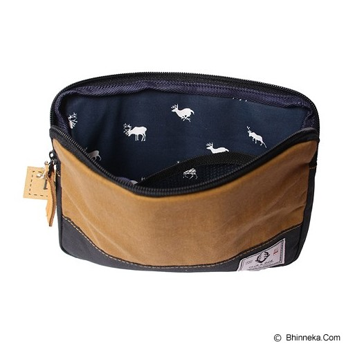 DEER AND DOE Denim Pouch Bag - Brown - Tas Kosmetik / Make Up Bag