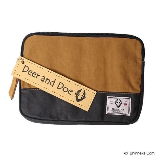 DEER AND DOE Denim Pouch Bag - Brown - Tas Kosmetik / Make Up Bag
