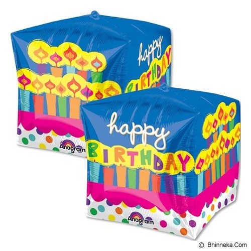 DEITY HOUSE Cubez Birthday Cake [A2837901] - Balon