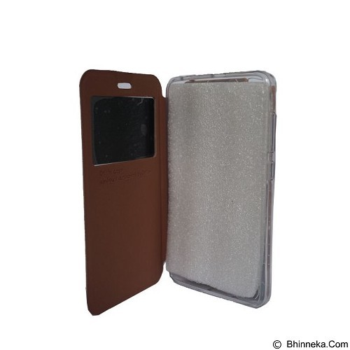 DELKIN Flip Cover Andromax E2 - Brown (Merchant) - Casing Handphone / Case
