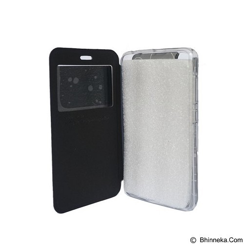 DELKIN Flip Cover Andromax E2 Plus - Black (Merchant) - Casing Handphone / Case