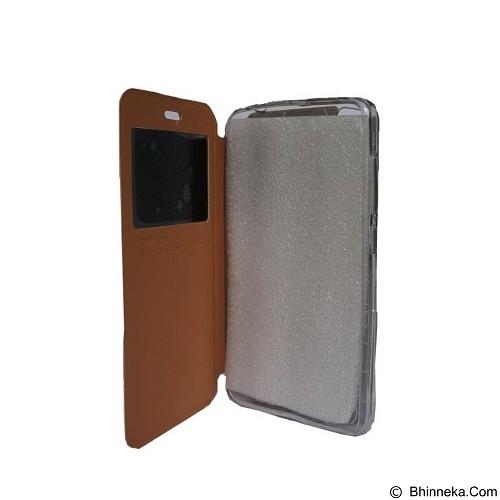 DELKIN Flip Cover Lenovo K5 Plus A6020 - Gold (Merchant) - Casing Handphone / Case