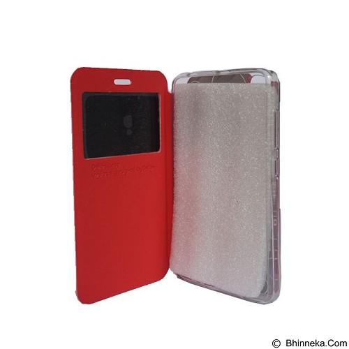 DELKIN Flip Cover Vivo V3 Max - Red (Merchant) - Casing Handphone / Case