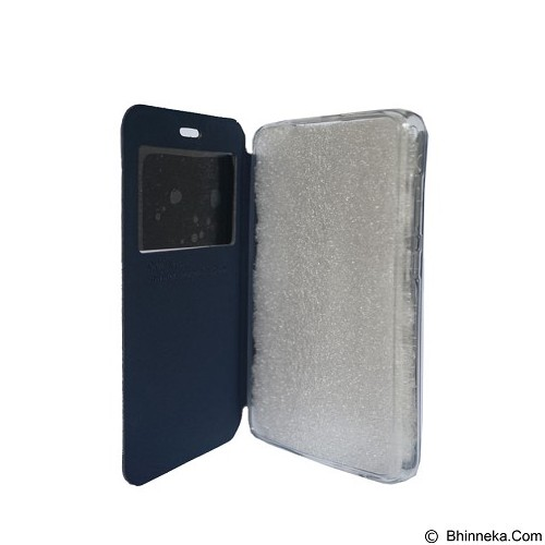 DELKIN Flip Cover Vivo Y21 - Dark Blue (Merchant) - Casing Handphone / Case