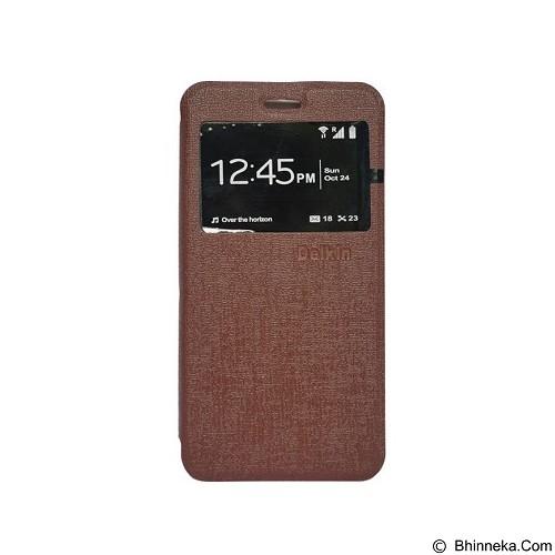 DELKIN Flip Cover Xiaomi Redmi 4 Prime - Brown (Merchant) - Casing Handphone / Case