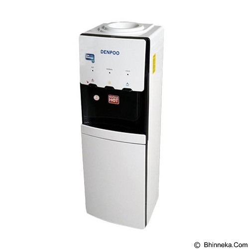 DENPOO Stand Water Dispenser [DDK-3305] - White Black (Merchant) - Dispenser Stand
