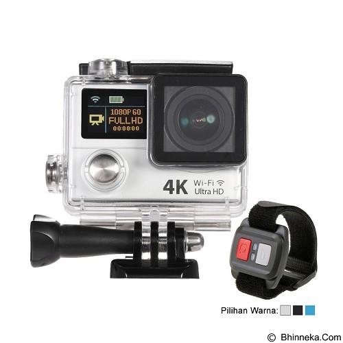 DIKLIKAJA Action Camera 4K Dual Screen + Remote [DKA-ACAM-1LCD-WHT] - White (Merchant) - Camcorder / Handycam Flash Memory