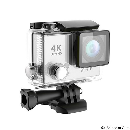 DIKLIKAJA Action Camera 4K Single Screen [DKA-ACAM-1LCD-WHT] - White (Merchant) - Camcorder / Handycam Flash Memory