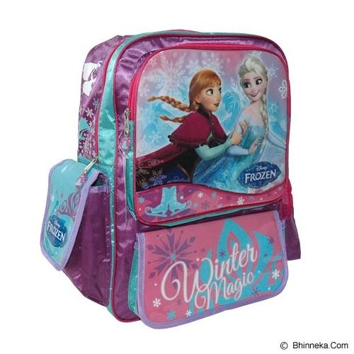 DISNEY Big Backpack Frozen [FZ924035] -  Pink & Green - Tas Anak