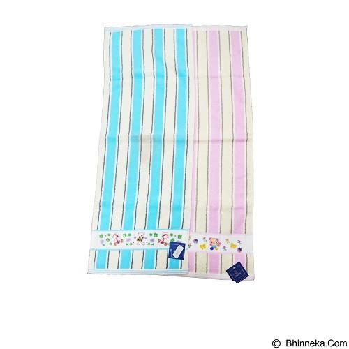 DIXON Handuk Bayi Salur List Boneka [DX701] - Pink - Handuk Bayi dan Anak