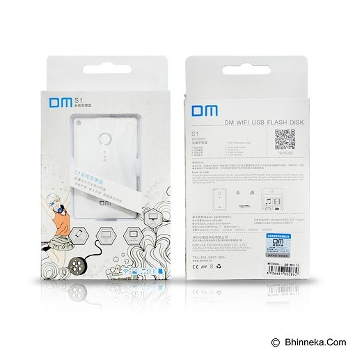 DM Wireless Expansion Ultra Disk Card Style 64GB for iOS/Android [WFD009] - White - Usb Flash Disk Basic 2.0