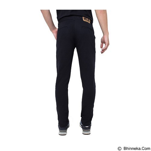 DOCDENIM Men Chinos Kronoss Slim Comfort Fit Size 36 - Black (Merchant) - Celana Jeans Pria