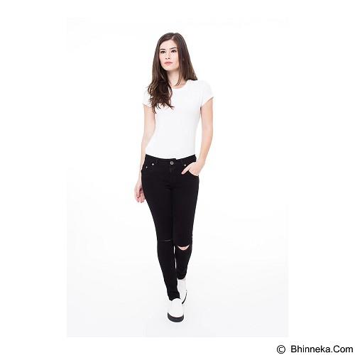 DOCDENIM Ladies Jeans Calique Ripped Skinny Fit Size L - Black (Merchant) - Celana Jeans Wanita