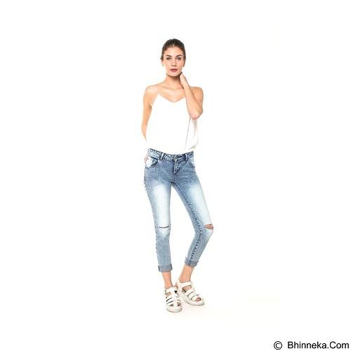 DOCDENIM Ladies Jeans Carrol RU Cut Ripped Size XL - Blue (Merchant) - Celana Jeans Wanita