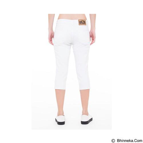 DOCDENIM Ladies Nikeisha Ripped 7/8 Slim Fit Size L - White (Merchant) - Celana Jeans Wanita