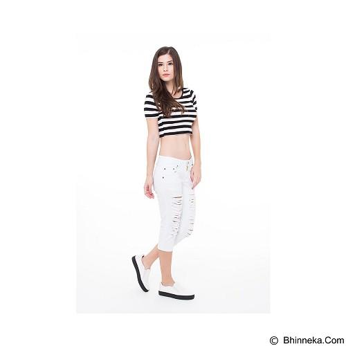 DOCDENIM Ladies Nikeisha Ripped 7/8 Slim Fit Size M - White (Merchant) - Celana Jeans Wanita