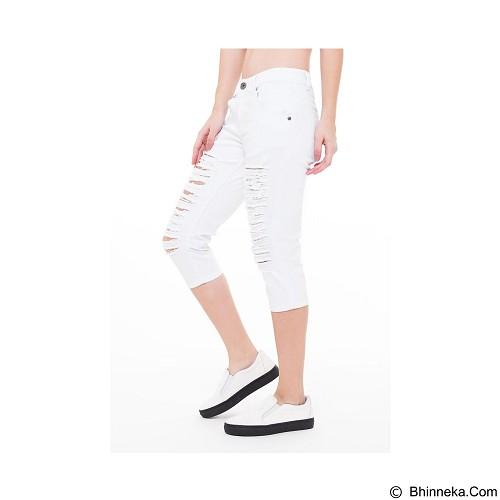 DOCDENIM Ladies Nikeisha Ripped 7/8 Slim Fit Size XL - White (Merchant) - Celana Jeans Wanita