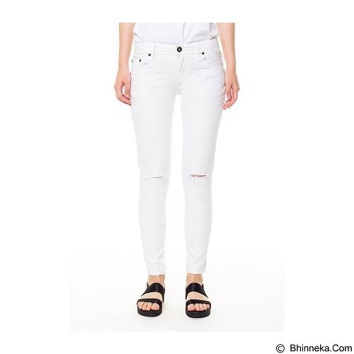 DOCDENIM Ladies Pants Letizia Cut Ripped Super Slim Fit Size L - White (Merchant) - Celana Jeans Wanita