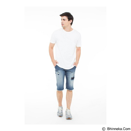 DOCDENIM Men Bronx Short Slim Fit Size 28 - Blue (Merchant) - Celana Pendek Pria
