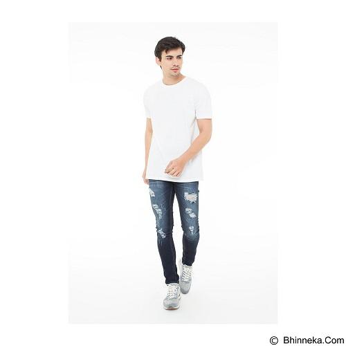 DOCDENIM Men Hellioz Ripped Super Slim Fit Size 36 - Blue (Merchant) - Celana Jeans Pria