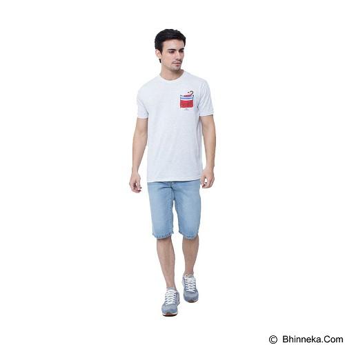 DOCDENIM Men Mercury Short Slim Comfort Fit Size 30 - Light Blue (Merchant) - Celana Jeans Pria