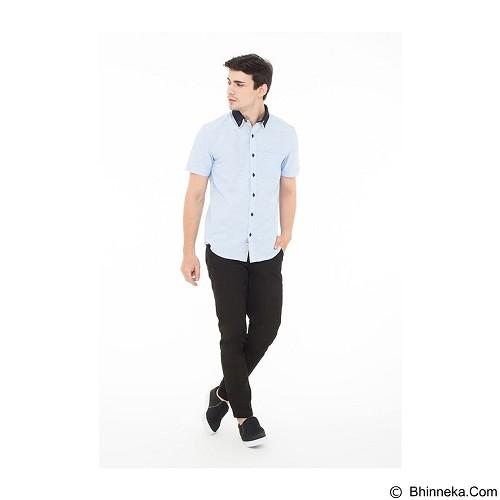 DOCDENIM Men Shirt Castillo Slim Fit Size S - Blue (Merchant) - Kemeja Lengan Pendek Pria