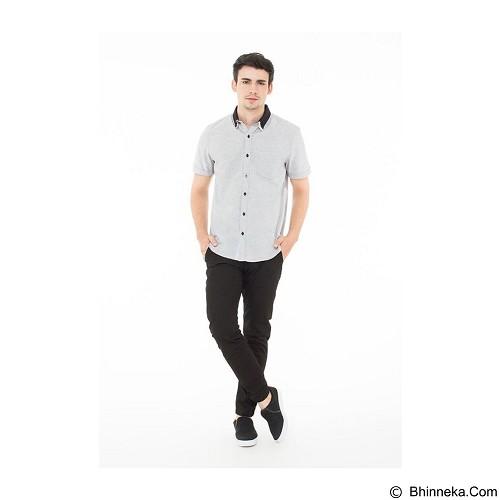 DOCDENIM Men Shirt Stingray Slim Fit Size L - Blue (Merchant) - Kemeja Lengan Pendek Pria