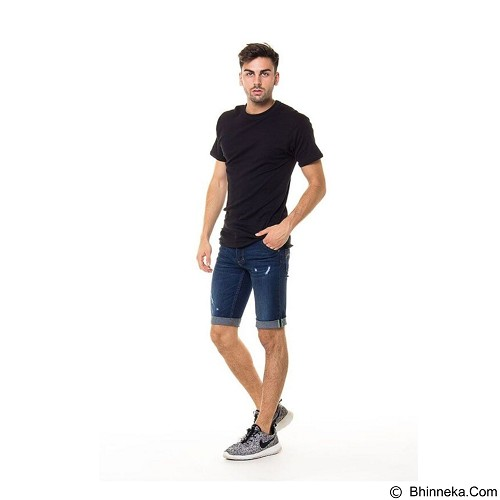 DOCDENIM Men Short Denim Kenzzei RU Ripped Slim Fit Size 29 - Blue (Merchant) - Celana Jeans Pria