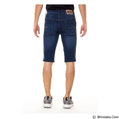 DOCDENIM Men Short Denim Kenzzei Ripped Slim Fit Size 30 - Blue (Merchant) - Celana Jeans Pria