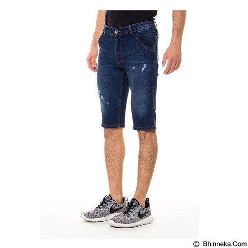 DOCDENIM Men Short Denim Kenzzei Ripped Slim Fit Size 32 - Blue (Merchant) - Celana Jeans Pria