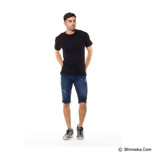 DOCDENIM Men Short Denim Kenzzei Ripped Slim Fit Size 36 - Blue (Merchant) - Celana Jeans Pria