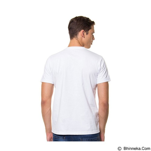 DOCDENIM Men T-shirt Size L [DD21] - White (Merchant) - Kaos Pria