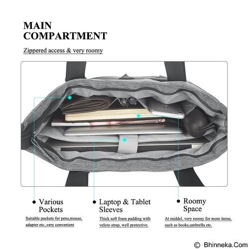 DTBG Laptop Bag 15.6 Inch [D8111W] - Grey (Merchant) - Notebook Shoulder / Sling Bag