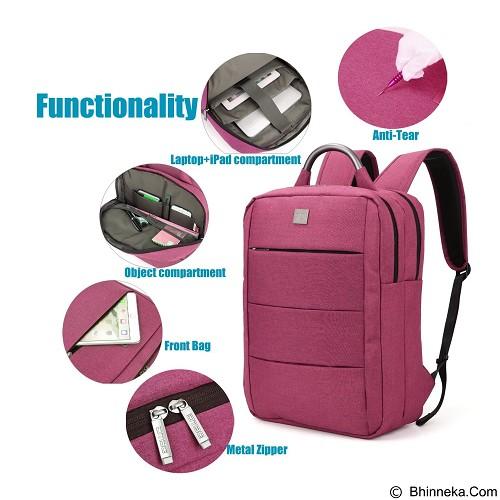 DTBG Laptop Bag 15.6 Inch [D8173W] - Red (Merchant) - Notebook Backpack