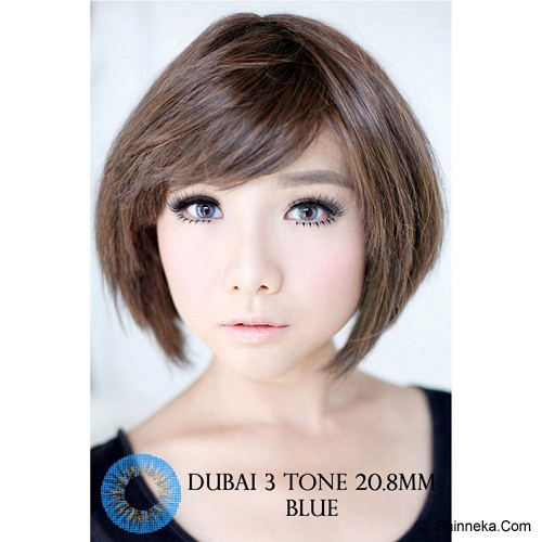 DUBAI 3 Tone Contact Lens 20.8mm - Blue - Perawatan Mata