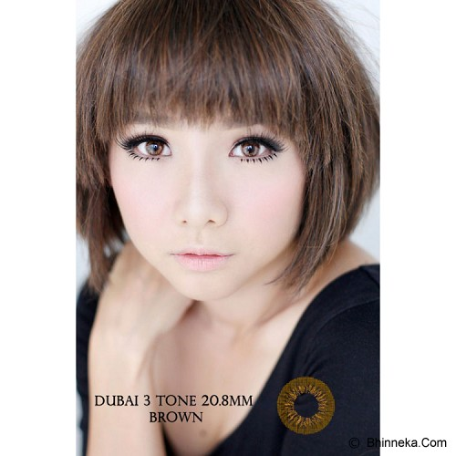 DUBAI 3 Tone Contact Lens 20.8mm - Brown - Perawatan Mata