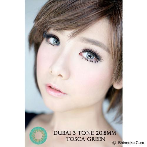 DUBAI 3 Tone Contact Lens 20.8mm - Tosca Green - Perawatan Mata