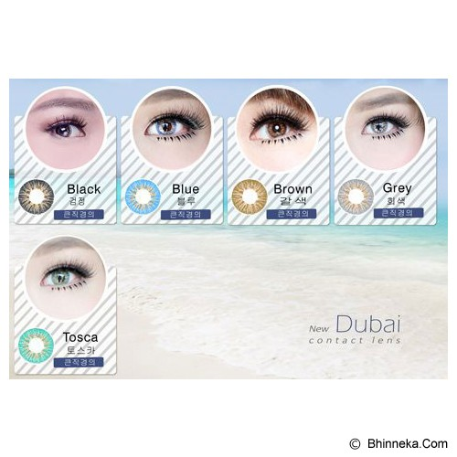DUBAI 3 Tone Contact Lens 20.8mm - Tosca Green - Perawatan Mata