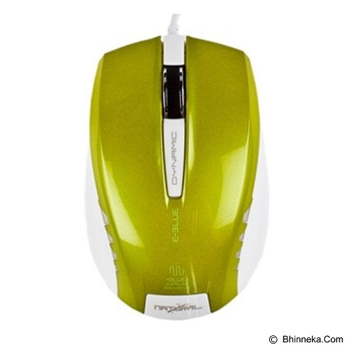 E-BLUE Dynamic Optical Mouse - Green (Merchant) - Mouse Basic