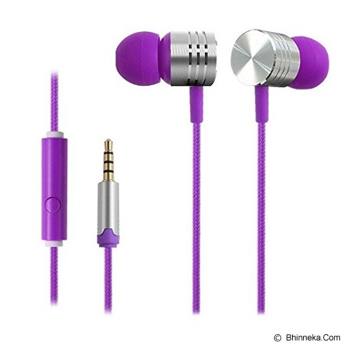 EARFUN Earphone Fashionable Colorful [EF-E4] - Purple - Earphone Ear Monitor / Iem