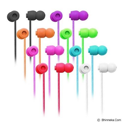 EARFUN Earphone Fashionable Colorful [EF-E5] - Black - Earphone Ear Monitor / Iem